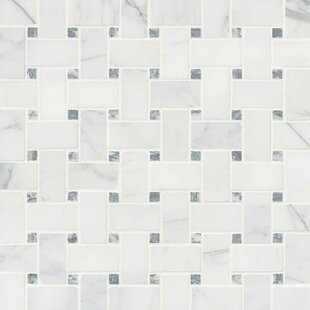 marble basketweave tile. Calacatta Cressa Basketweave Honed Marble Mosaic Tile In White E