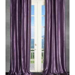 Solid Semi-Sheer Thermal Rod pocket Single Curtain Panel