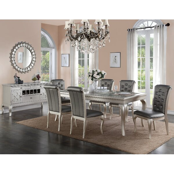 poundex bobkona florence 8 piece dining set & reviews | wayfair
