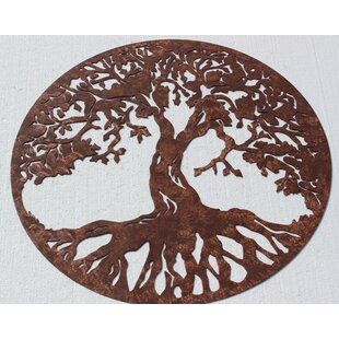 Tree Of Life Sign Metal Wall Décor