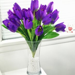 Wondrous Purple Tulip Flower Arrangements Youll Love In 2019 Wayfair Download Free Architecture Designs Intelgarnamadebymaigaardcom