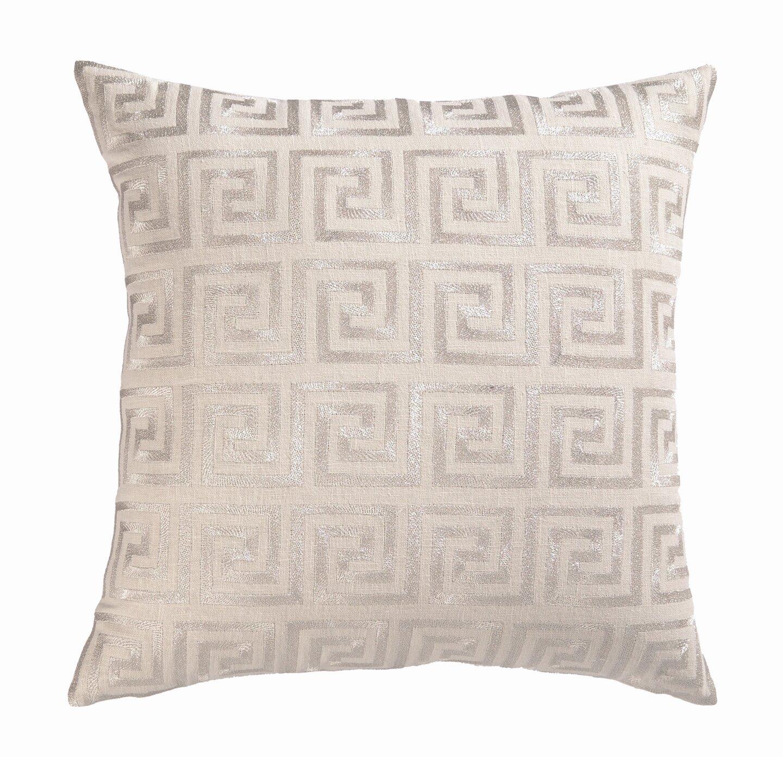 Fabulous D.L. Rhein Embroidered Greek Key Linen Throw Pillow & Reviews  PL63