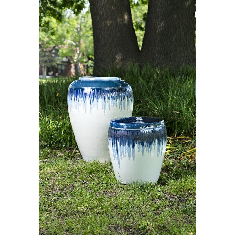Pooler Contemporary Blue Floor Vase Birch Lane