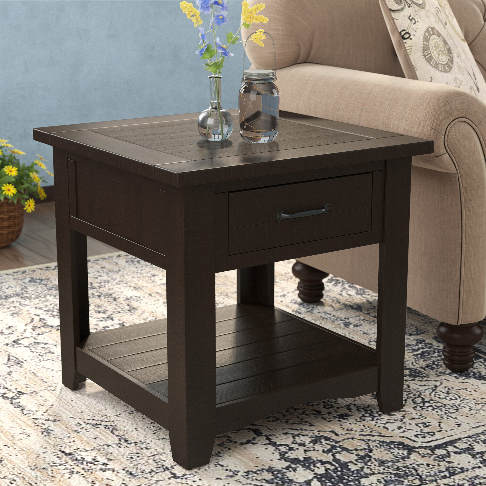 Three Posts Soham End Table Wayfair