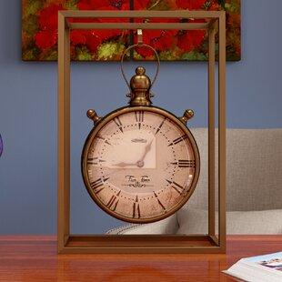 Charmant Metal Tabletop Clock