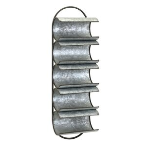 Manke Galvanized Iron Wall Floor Wine Bottle Rack