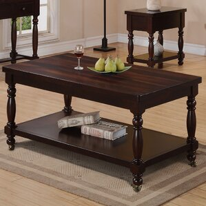 Hawkes Coffee Table with Casters by Darby Home Co