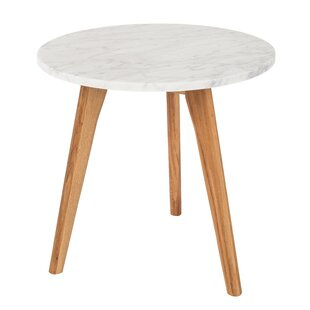 Ordinaire White Stone Side Table ...
