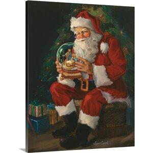 'Santa Believes' Painting Print