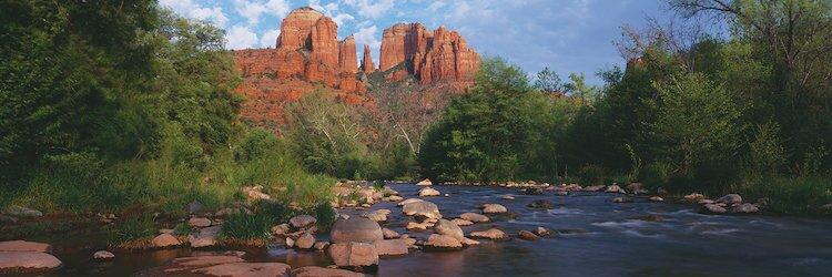 Cathedral Rock, Coconino National Forest, Sedona, Yavapai County, Arizona  Photographic Print on Wrapped Canvas