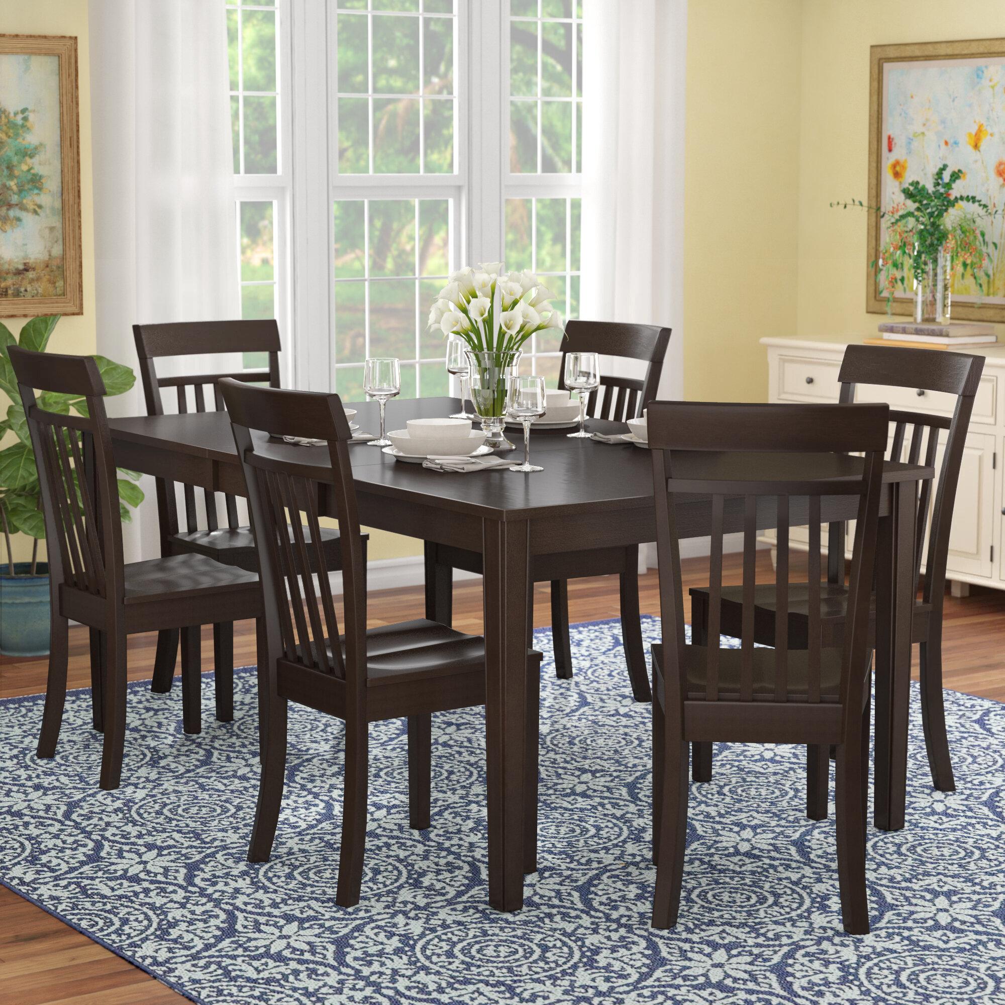 7 piece dining set with leaf contemporary red barrel studio lindstrom piece dining set reviews wayfair