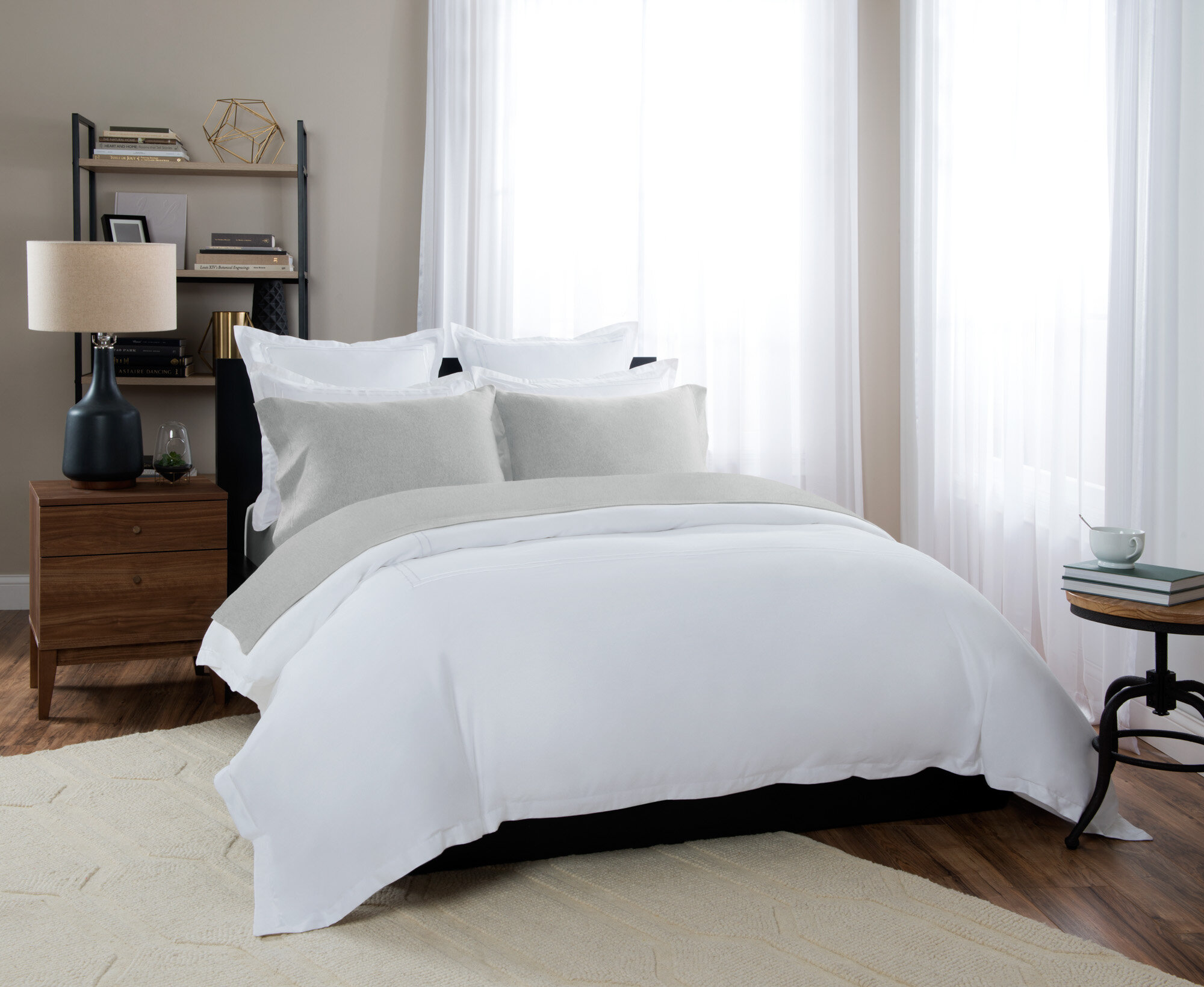 Briarwood Home 100% Cotton Heathered Jersey Sheet Set U0026 Reviews | Wayfair