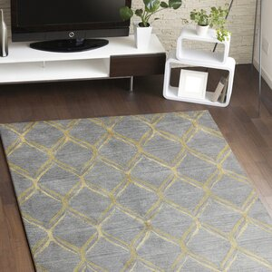 Abbas Hand-Tufted Grey Area Rug