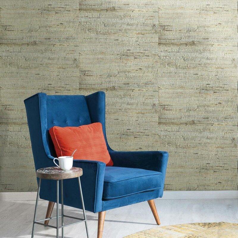 """Urban Retreat 24' x 36"""" Grasscloth Wallpaper"""