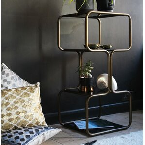Curved Brass Shelving Unit by Fashion N You by Horizon Interseas