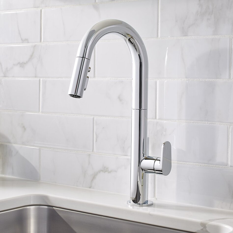 beale single handle pull down kitchen faucet allmodern