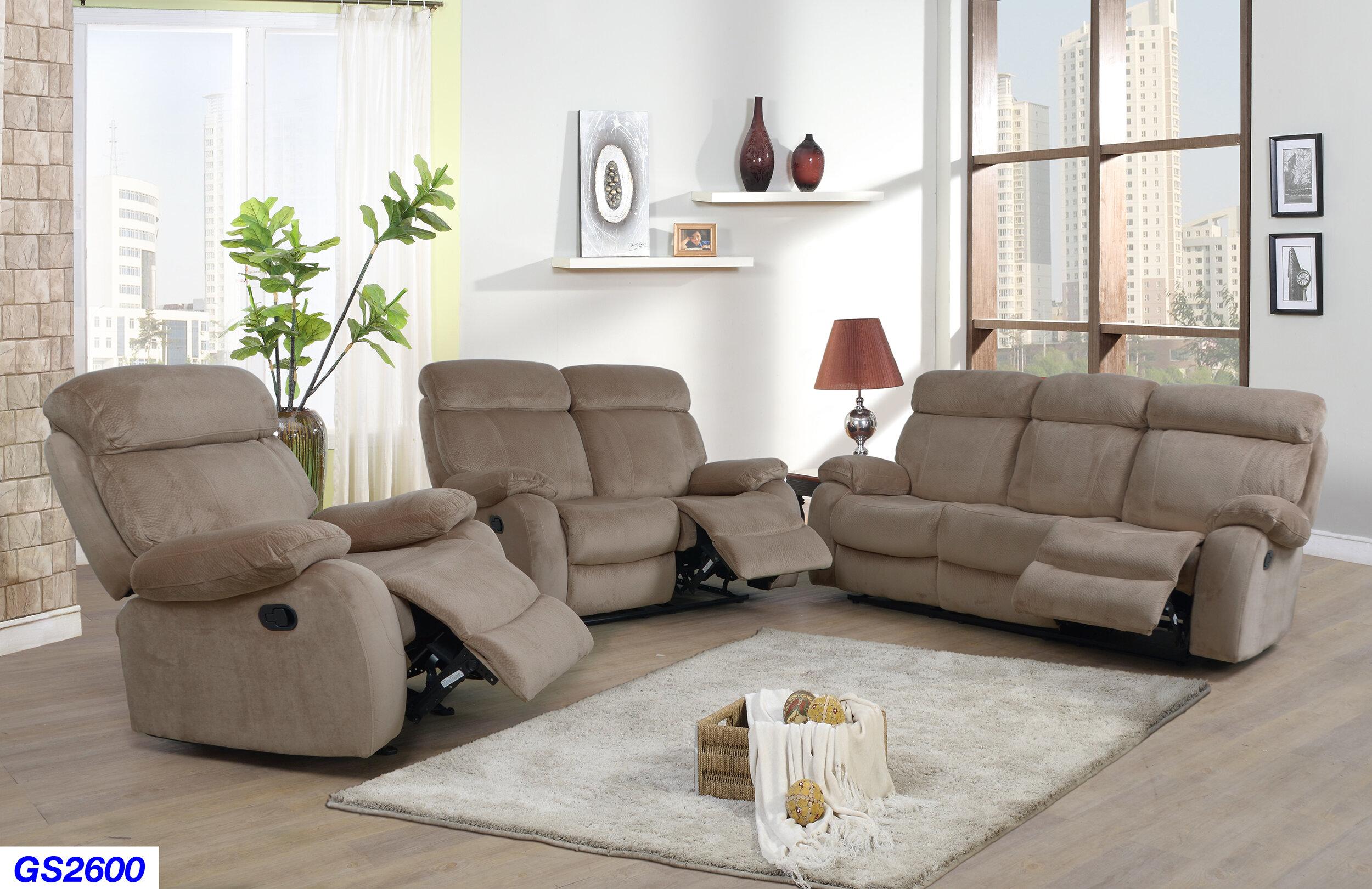 Mcgruder 3 Piece Reclining Living Room Set