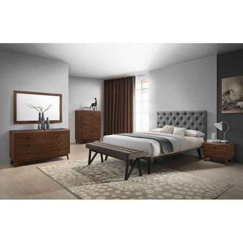 Corrigan Studio Cottone Modern Platform 4 Piece Bedroom Set | Wayfair