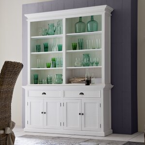 Bookcases With Doors Youll Love Wayfair - White bookshelves with cabinets