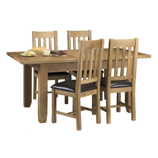 All Home Oliver Extendable Dining Set with 4 Chairs Reviews