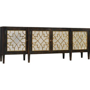 Living Room Sanctuary Four Door Mirrored Console Sideboard