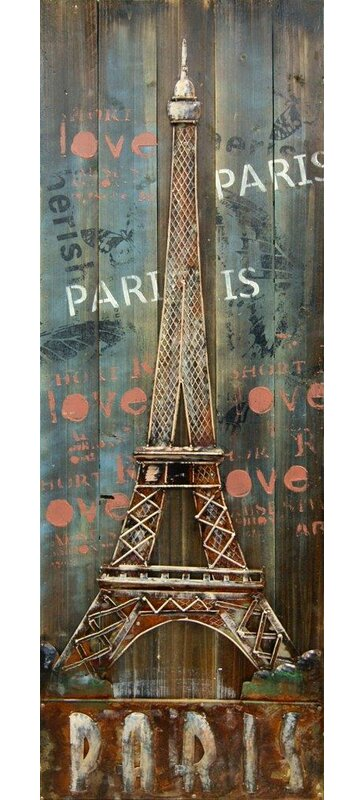 3D Eiffel Tower Wall Decor