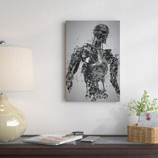 Pop Culture Splatter Series  Machine  Graphic Art Print on Wrapped Canvas 7008ac7e6a13
