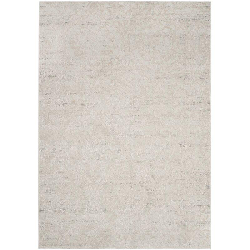 Alcott Hill Van Andel Silver/Beige Area Rug, Size: Rectangle 8 x 10