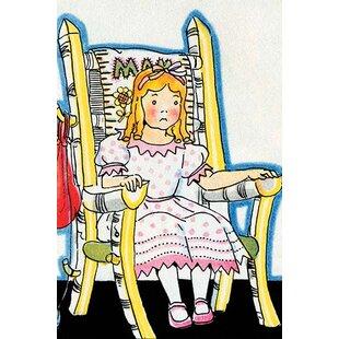 U0027Goldilock Tries Mama Bearu0027s Chairu0027 By Julia Letheld Hahn Painting Print