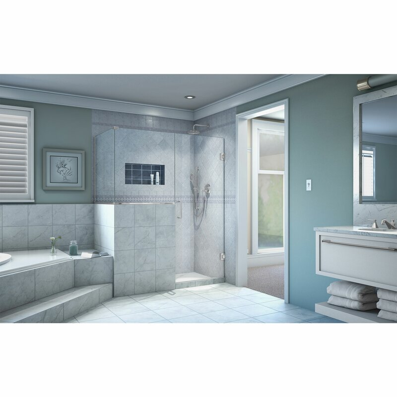 Unidoor Plus 48  x 72  Hinged Frameless Shower Door with Clear Max Technology  sc 1 st  Wayfair & DreamLine Unidoor Plus 48