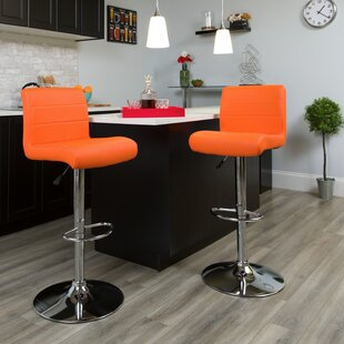 Deshong Adjustable Height Swivel Bar Stool