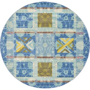 Rune Blue Area Rug