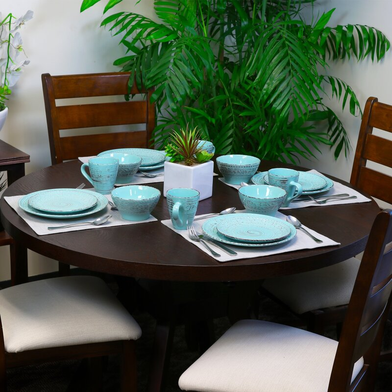 Dilley 16 Piece Dinnerware Set, Service For 4