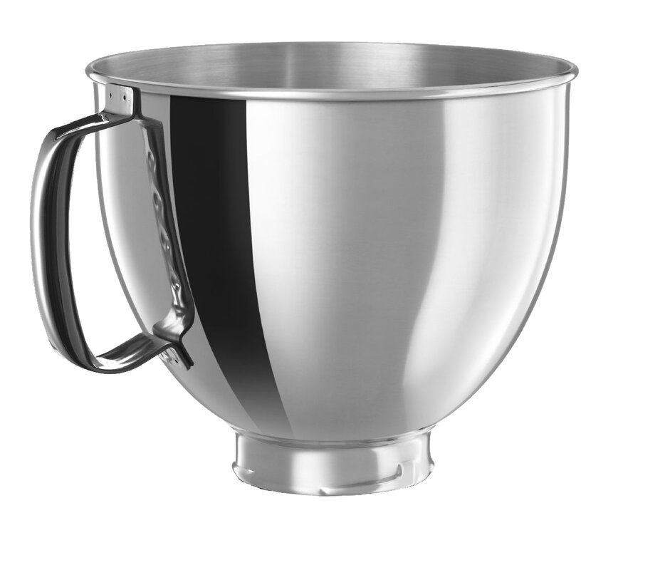 High Quality 5 Qt. Polished Stainless Steel Bowl With Handle For KitchenAid Tilt Head  Stand Mixers
