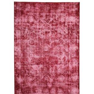 Quartier Handmade Kilim Wool Red Rug by Latitude Vive