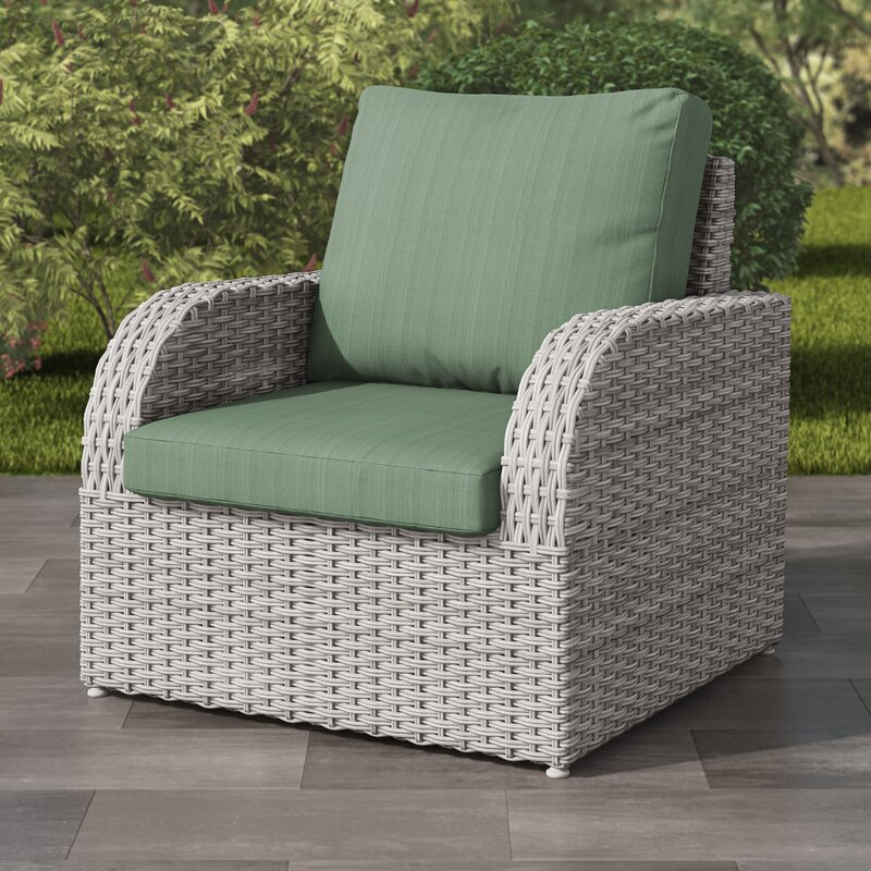 Rosecliff Heights Killingworth Weather Resistant Resin Wicker Patio Chair With Cushions Wayfair