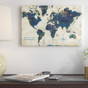 World map push pin wayfair world map collage graphic art on wrapped canvas gumiabroncs Image collections