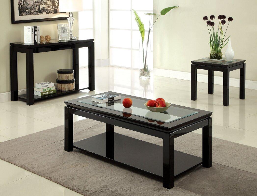 Longshore Tides Annalee Coffee Table Set Reviews Wayfair ~ Sofa Table End Table Set