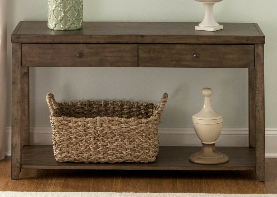 Brown console sofa tables youll love wayfair geotapseo Choice Image