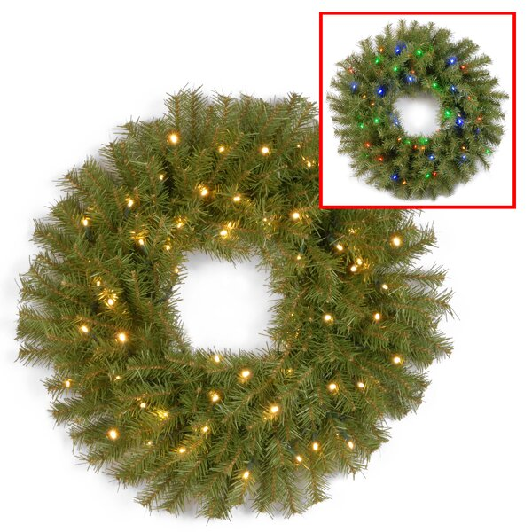Outdoor lighted wreaths wayfair aloadofball Image collections