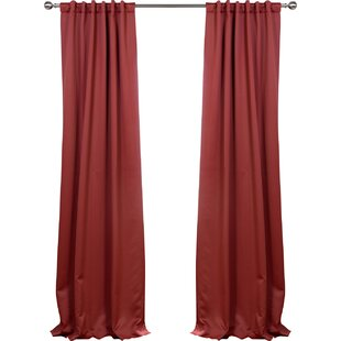 Panel Pair Red Curtains Drapes Youll Love