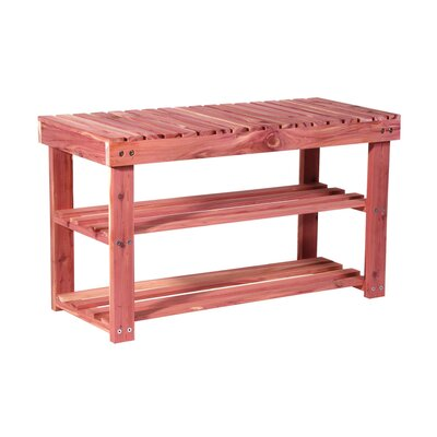 Loon Peak Donaldson 2 Tier Entryway Wood Storage Bench & Reviews ...