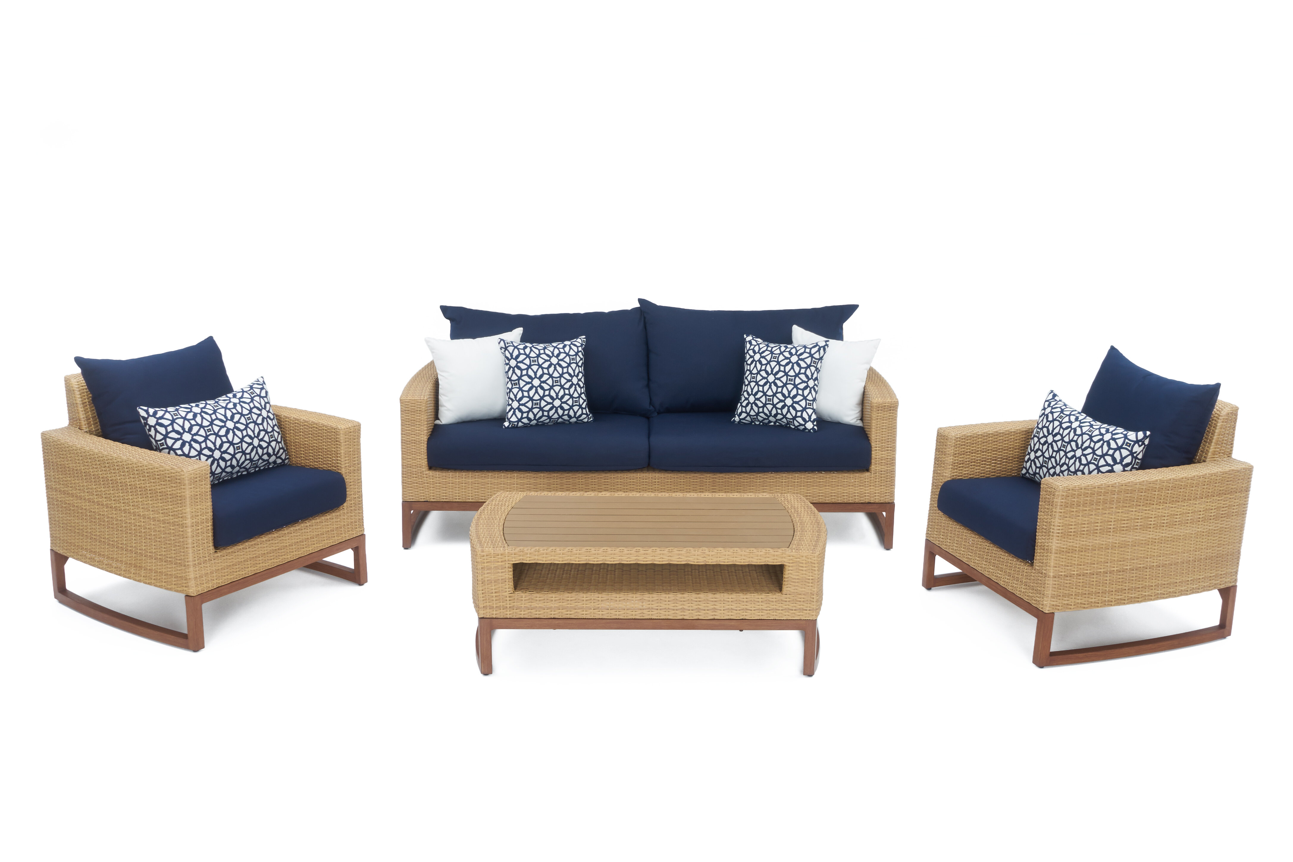Addison 4 Piece Sunbrella Sofa Seating Group with Cushions & Reviews ...