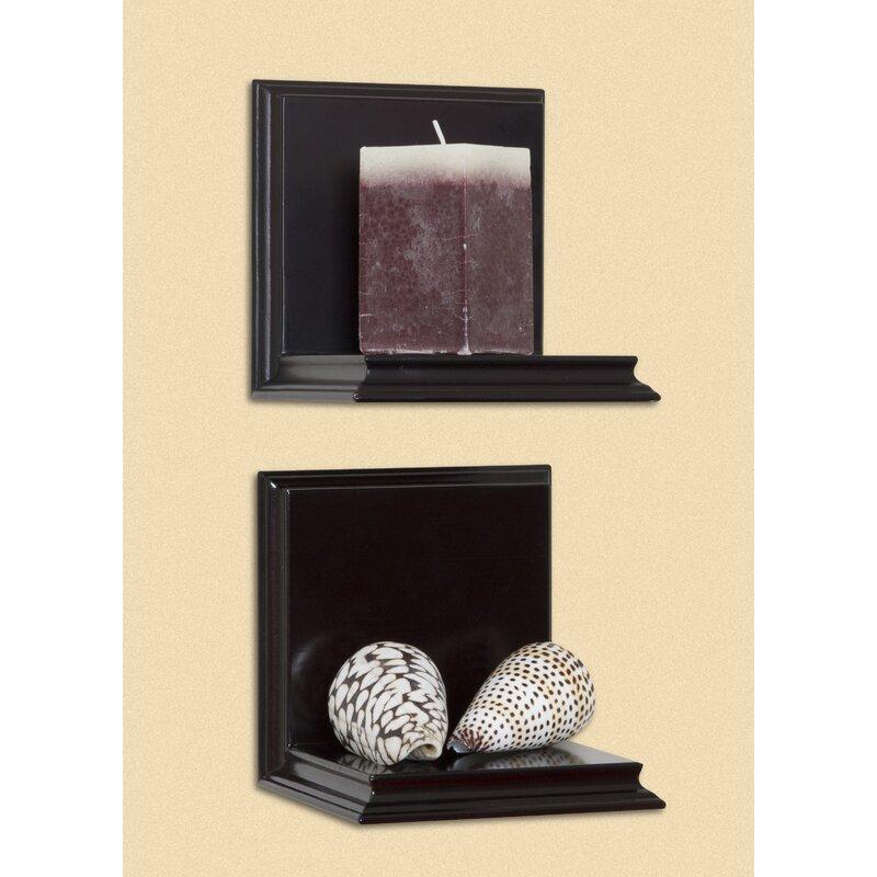 Woodland Home Decor Sconce 2 Wall Shelf Set & Reviews | Wayfair