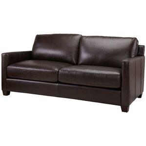 Fifth Street Leather Sofa by Red Barrel Studio