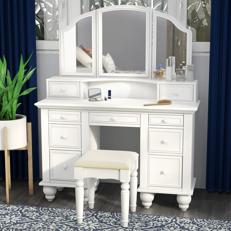 Anthonyson Transitional Vanity Set With Mirror Amp Reviews