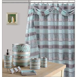 grey and navy shower curtain. Venezia Decorative Shower Curtain Blue Curtains You ll Love