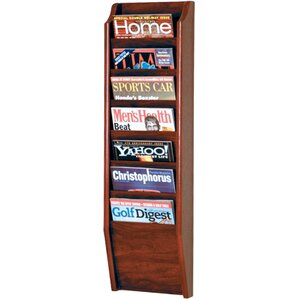 olsson 7 pocket wall mount magazine rack
