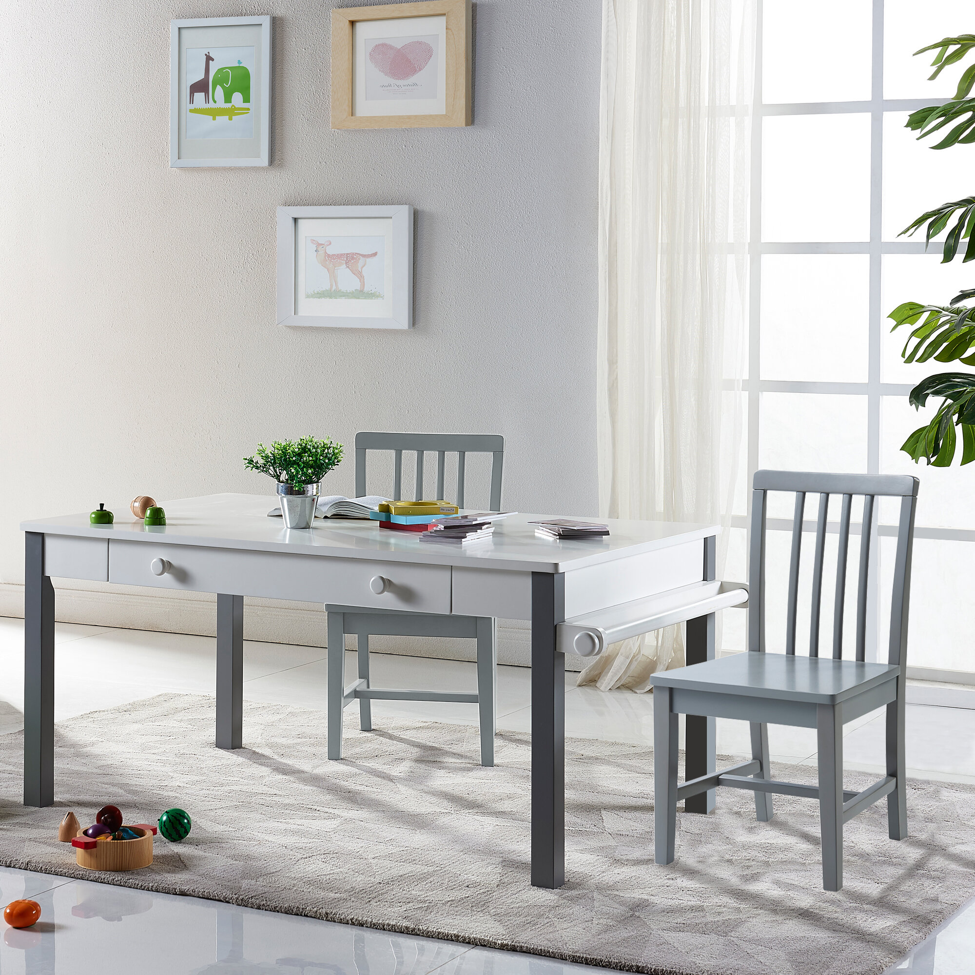 VERSANORA Pittore Multi-Function Kids Writing Table and Chair Set ...