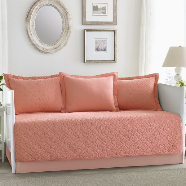 Laura Ashley Home Solid Coral Cotton 5 Piece Daybed Set by Laura ...